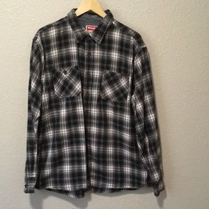 Wrangler plaid cotton flannel